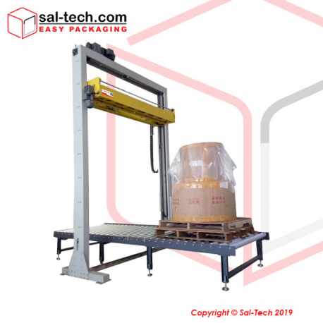STEP L3DSD2 Fully Automatic Double Rotary Arm Stretch Wrapper with Top Sheet Dispenser