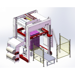 STEP Stretch Hood Pallet Packaging Line