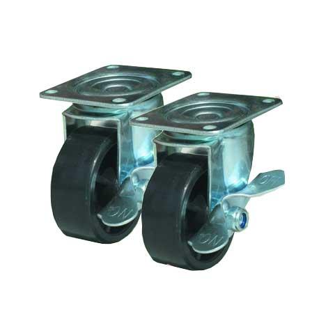 Wheels with Brake Set of 4