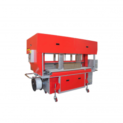 STEP TP-702CQ3-S Corrugated Strapper, Squaring & Back stop machine