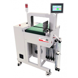 STEP BAND 1400-CA-MP Logo Centralize in-line automatic banding machine
