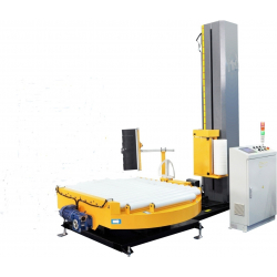 STEP WRAP 3700 Automatic Pallet Wrapper with roller conveyor