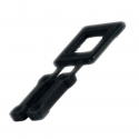 Plastic Buckles 16S Black for manual strapping