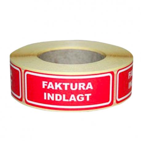 Label - Faktura indlagt