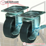 Wheels with Brake Set of 4