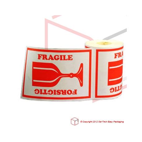 Label - Forsigtig Glas