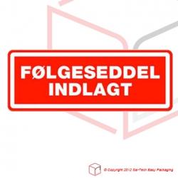 Label - Følgeseddel indlagt