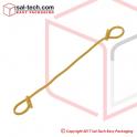 Sack Tie 150mm Yellow