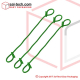 Sack Tie 220mm Green