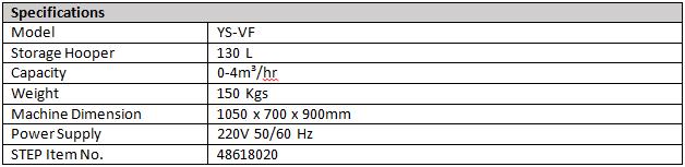 STEP VF130L Specs