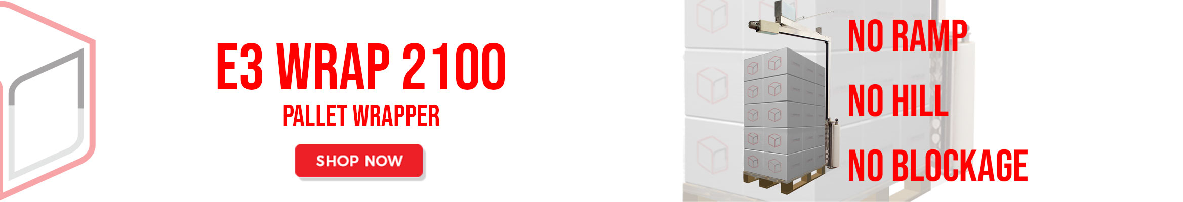 E3 Wrap 2100 Palleomvikler - Hurtig - MEGET Lille Investering - Udfører Jobbet